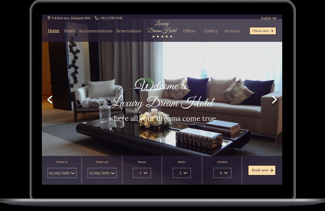 Luxury Dream Hotel Website Sketch Bisuan Design
